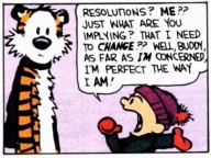 NY resolution Calvin and Hobbes